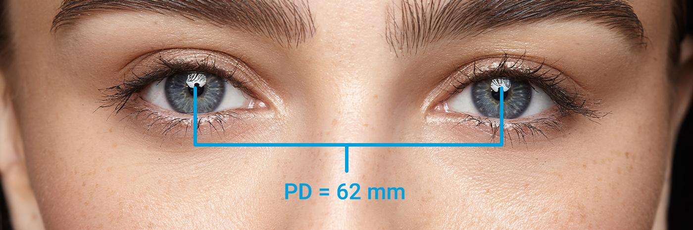 hvordan man måler pupilleafstand(PD)